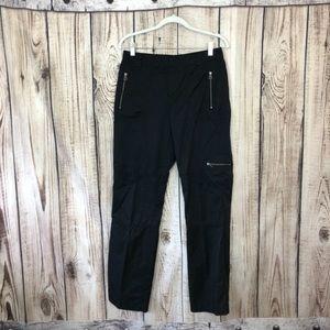 Ralph Lauren Black Silky Cargo Pants Size 6